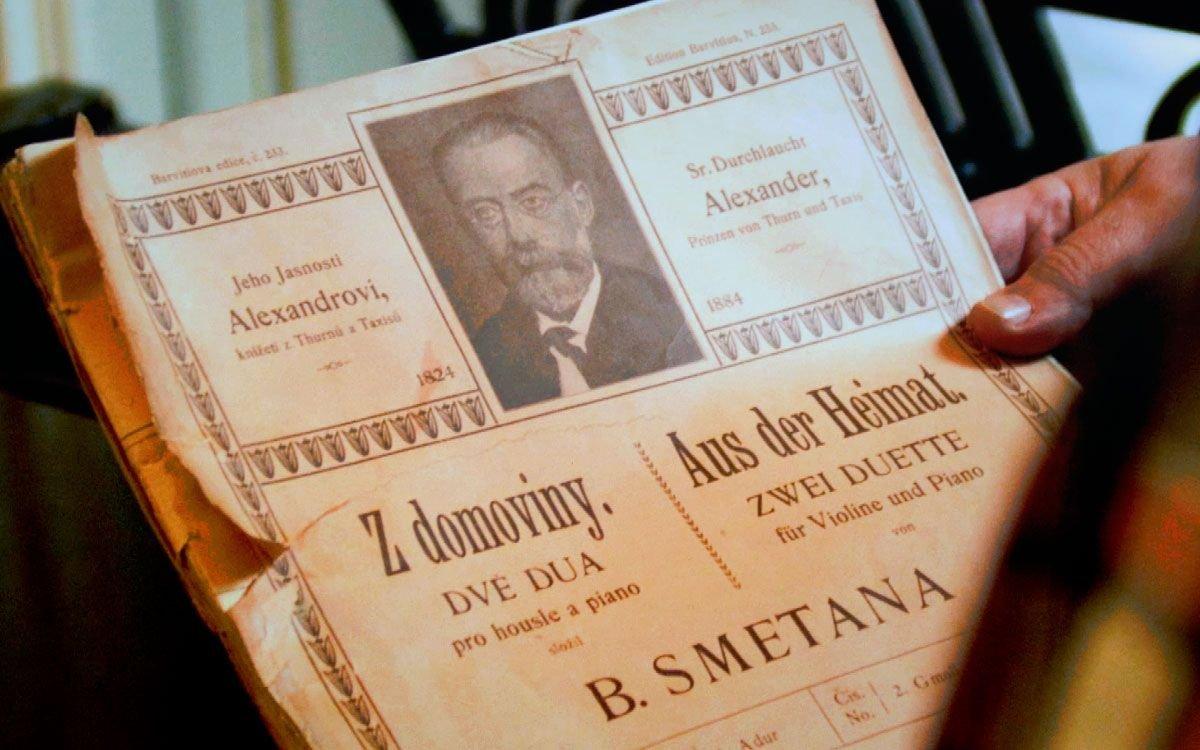V roce 1880 věnoval Bedřich Smetana svému příteli a majiteli zámku v Loučni part pro klavír a housle Z domoviny. | z archivu seriálu Lovci zážitků