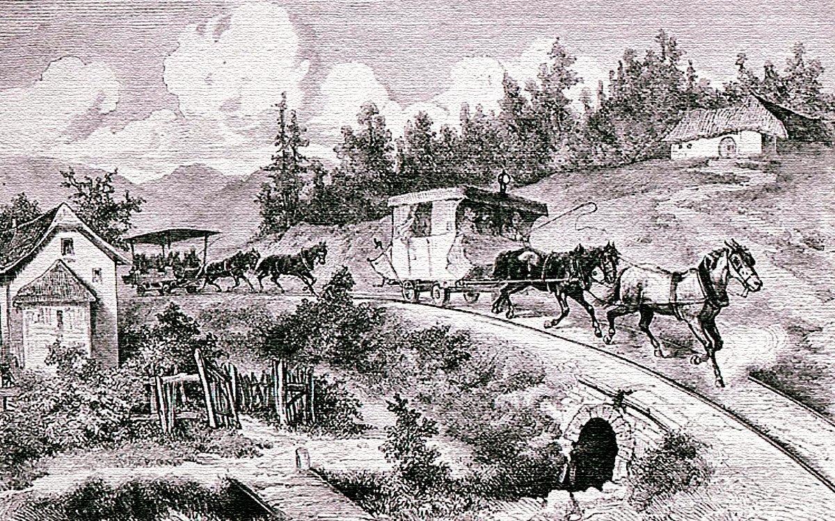 Hlavním důvodem pro stavbu železnice z Lince do Českých Budějovic byla přeprava soli z Rakouska do Čech. Stavba dráhy se stala velkým testem stavitelských dovedností a během jejího budování bylo nutno v plánech udělat mnoho změn a úprav. Příliš velkorysý způsob budování železničních náspů ale nakonec vedl k obrovskému překročení rozpočtu a odchodu hlavního stavitele ještě před dokončením celé trasy.