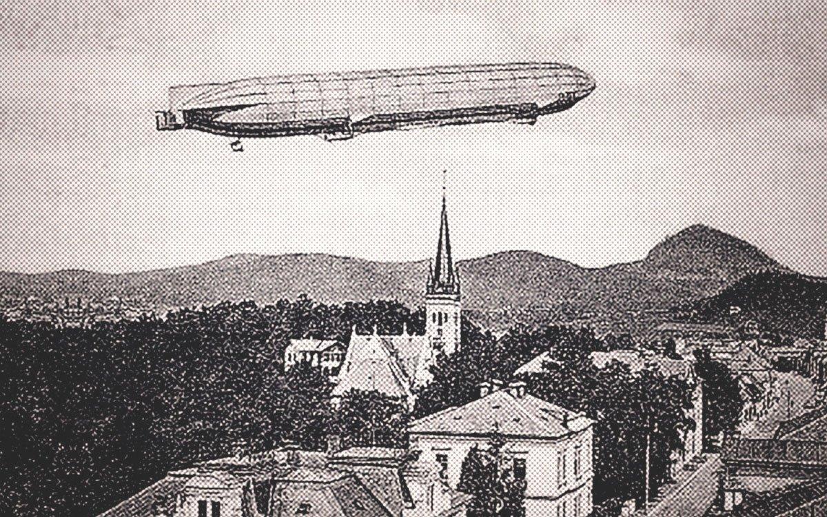 Roku 1913 se sklářská obec Nový Bor nesmazatelně zapsala do dějin letectví, historicky prvním přistáním vzducholodi v českých zemích.