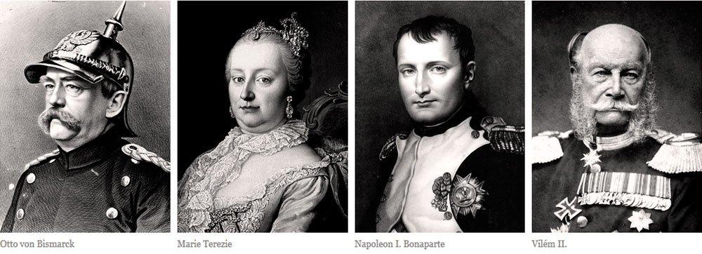 Po bitvě u Slavkova tu v roce 1805 strávil pár dní císař Napoleon, aby uzavřel mírovou smlouvu s Rakouskem. O půl století později, roku 1866, tu mírové podmínky dojednávali vrcholní představitelé Rakouska a Pruska. Na zámku byl pruský hlavní stan krále Viléma II. a Otto von Bismarcka. Podmínky vyjednané v Mikulově stvrdil tzv. Pražský mír, který ukončil prusko-rakouskou válku.