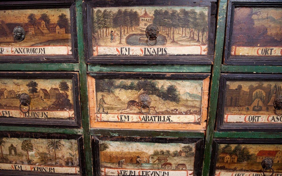 Za napoleonských válek se vyprázdnila státní pokladna, a tak byl klášter i s přilehlými pozemky roku 1826 odprodán tehdy nejmocnějšímu politikovi Rakouska-Uherska kancléři Metternichovi. Ten upravil bývalý klášter na zámek, část přebudoval na hutě a bydlení pro dělníky. Ke konci druhé světové války sloužil klášter ruským vojákům a v roce 1945 bylo celé panství znárodněno. Dnes jsou Plasy ve správě Národního památkového ústavu a velká část klášterního areálu patří pod Národní technické muzeum. V obnoveném nemocničním křídle je k vidění velice zajímavá expozice zaměřená na historii plaského lékárenství. | © Eva Kořínková