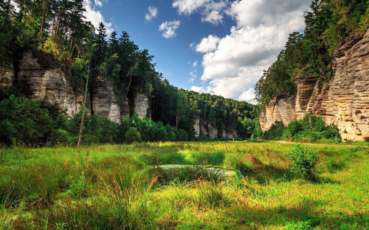 Údolí Plakánek směřuje od hradu Kost kolem rybníku Obora k obci Střehom. Romantické, skalnaté údolí s velice nezvyklým názvem podnítilo mnoho kronikářů ke psaní neuvěřitelných příběhů. Na dolním konci údolí je studánka Roubenka připomínaná v básních Fráni Šrámka. | © Luděk Antoš