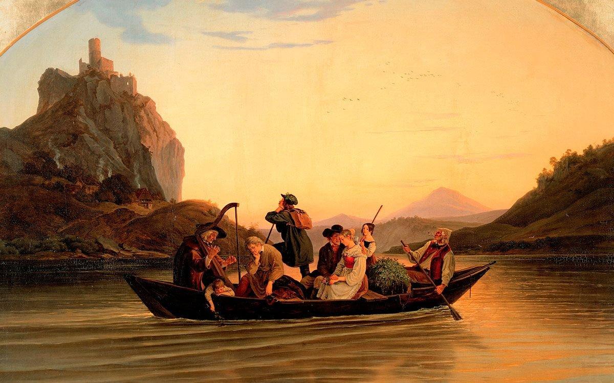 Významný německý malíř období romantismu Adrian Ludwig Richter se ve svých dílech opakovaně vracel k motivu hradu Střekova. Roku 1837 vytvořil své nejznámější dílo Přívoz přes Labe pod Střekovem.