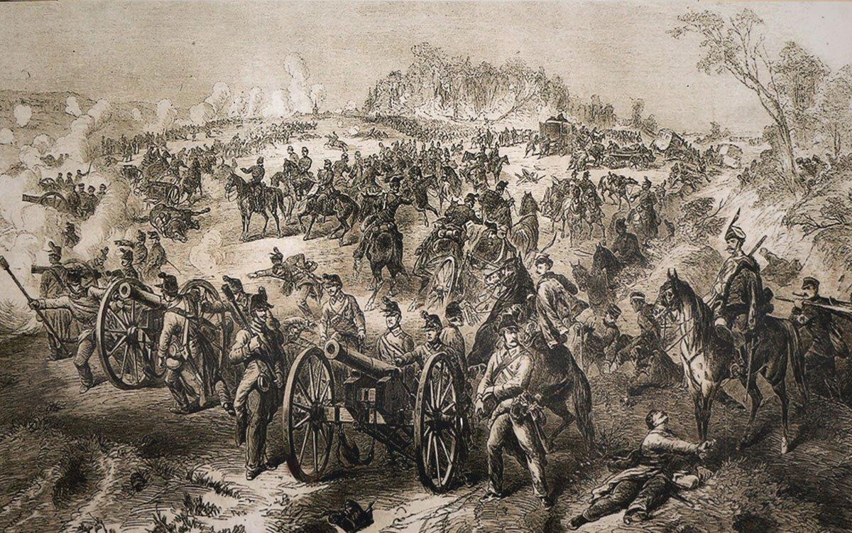 Prusko-rakouská bitva u Chlumu patří k největším bitvám 19. století. Na zdejším bojišti zůstalo téměř 8 000 mrtvých, více než 23 000 raněných vojáků a 7 000 pobitých jezdeckých koní.