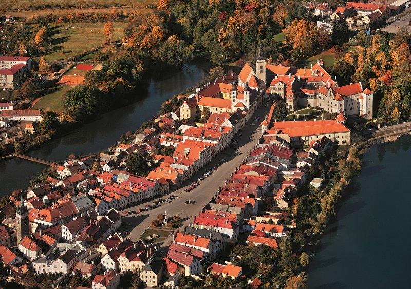 Telč, letecký pohled na město © Libor Sváček, archiv CzechTourism