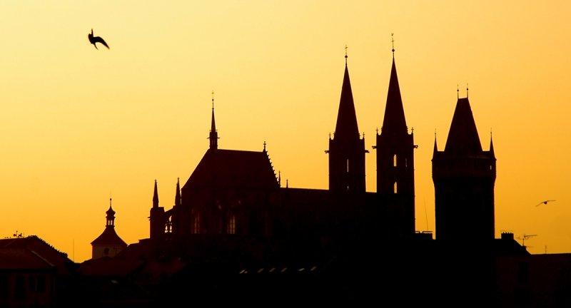 Kolín, silueta chrámu sv. Bartoloměje © Ladislav Renner, archiv CzechTourism
